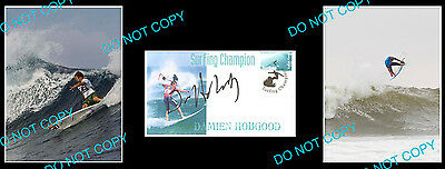 Damien Hobgood American Pro Surfing Champion Signed Cover +2 Photos