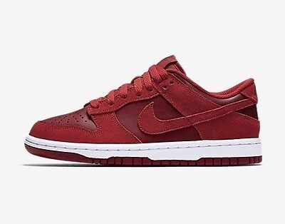 Nike Dunk Low (GS) 310569-605 Gym Red White Youth Boy's Lifestyle Shoes NEW!