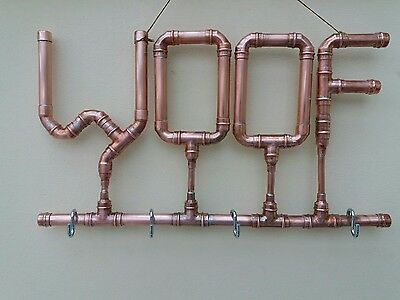 Handmade decorative copper wall art or hanger for dog lead etc