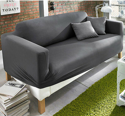 dekorative stretch husse f r ein 2 sitzer sofa neu. Black Bedroom Furniture Sets. Home Design Ideas