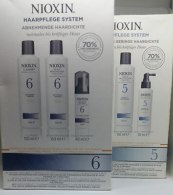 Nioxin Haarpflege System 5 u 6 Starter Kit Cleanser Scalp Revitaliser Treatment