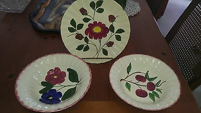 Blue Ridge southern pottery 3 pc set