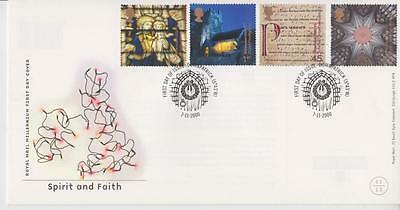 Unaddressed Gb Royal Mail Fdc 2000 Spirit & Faith Stamp Set Down Patrick Pmk