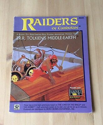 MERP ICE Raiders Of Cardolan Lord Of The Rings Fantasy Role Playing Book