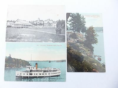 Post Cards; Vintage Muskoka Postcards, Set Of Three, 1900's , Lot B