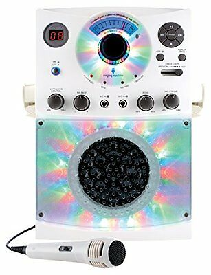 Singing Machine SML385 Karaoke Equipment - Bluetooth - 1 x Microphone - White