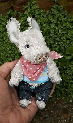 Handmade  Miniature Teddy Donkey Teddy Bear friends OOAK