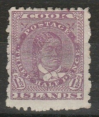 1893 COOK ISLANDS 1.1/2d DEFINITIVE  SG 7 F/USED