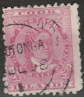 1893 COOK ISLANDS 2.1/2d DEFINITIVE  SG 8 USED