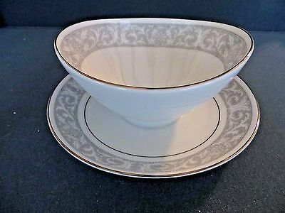 Imperial China WHITNEY 5671 by W Dalton Minty GRAVY BOAT w/ attached plate