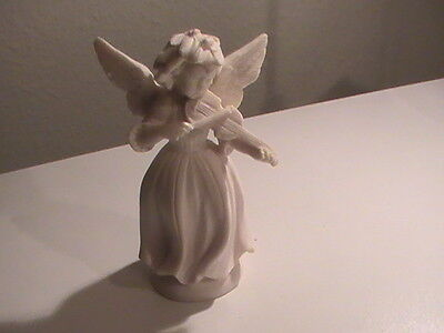 White Angel Oxolyte Lucido figurine Playing a Violin Made in Italy No. 672 MINT