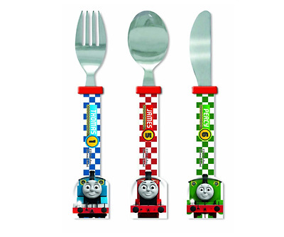 Thomas & Friends Cutlery Set Racing Train Shaped Multi Coloured Knife Fork Spoon