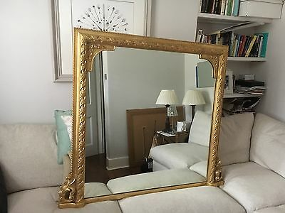 Gold Over-Mantle Mirror