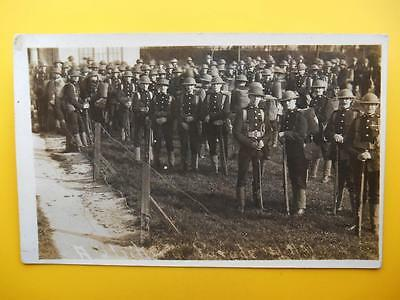 Army Soldiers Fusiliers Regt ? Striking Parade 1921 RP Uniforms Tin Hats Rifles