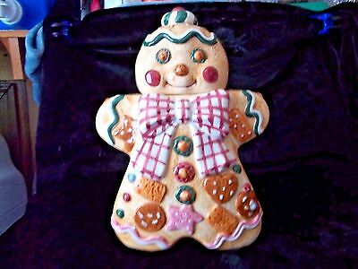 Gingerbread Man Cookie Jar Jay Imports Rare Christmas 1995 Excellent