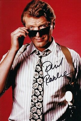 DAVID RASCHE signed Autogramm 20x30cm SLEDGE HAMMER In Person autograph COA