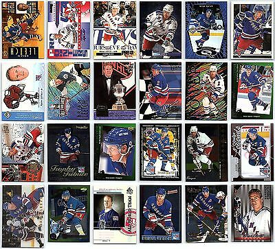 BRIAN LEETCH LOT OF 50 HOCKEY CARDS #1 Inserts No Dupes NY Ranagers Star Mint BV