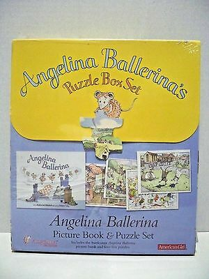 Angelina Ballerina Puzzle Box Set - Picture Book and 4 Puzzles - New