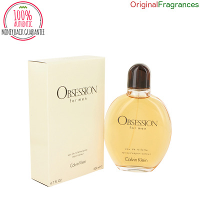 Obsession Cologne By CALVIN KLEIN FOR MEN 4 oz 1 oz 6.7 oz 2.5 oz EDT Spray NEW