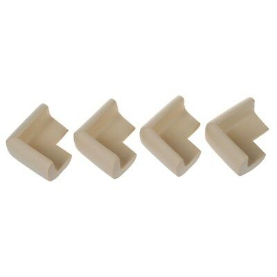 4pcs Baby Safety Table Edge Cover Corner Protector Cushion white C3B2