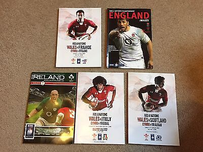 2012 Welsh Grand Slam Set Of Rugby Union Programmes