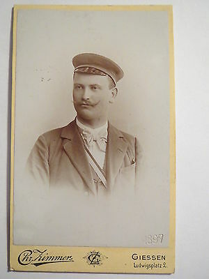 Giessen - Student in Couleur - 1897 - CDV / Studentika