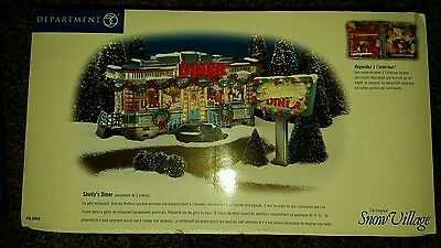 Department 56 Snow Village Shellys Diner Brand New Unopened excellent condition