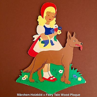 German Vintage Childhood Fairy Tale Antique Wood Toy 51: 1950ies hand-painted