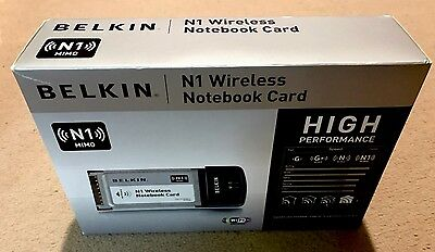 Belkin N1 Wireless Notebook Card P58072 MIMO Wireless!!!for older upgrad
