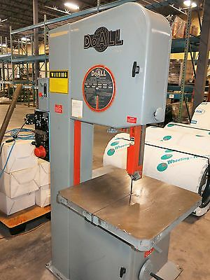 1 Used DoAll Model 2013V Vertical Band Saw, New 1990