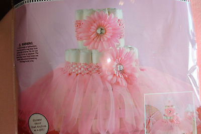 Pink Tutu Diaper Cake Kit; Ballerina Theme Cake Kit; Girls Baby shower decor