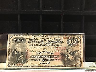 1875-Cattlesburg National Bank  $10 National Currency