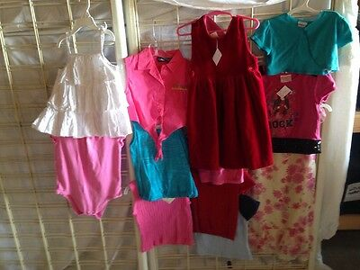 12 Pc Lot Girls 4t 4-5 Ralph Lauren Nike LEI Gap Children's Place Arizona A14