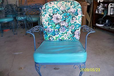 Vintage Woodward Wrought Iron patio Chairs set of 2