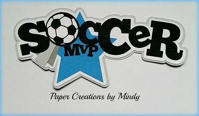 Craftecafe Mindy Sports Soccer boy girl title premade paper piecing  scrapbook