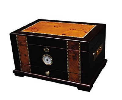 Quality Large Desktop Spanish Cedar with Hygrometer Humidifier Cigar Box