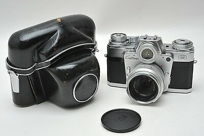 Zeiss Ikon Contarex Bulls Eye With 50Mm Zeiss Tessar Lens & Case