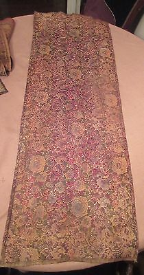 antique ornate embroidered centerpiece table mat runner linen floral 48 inches
