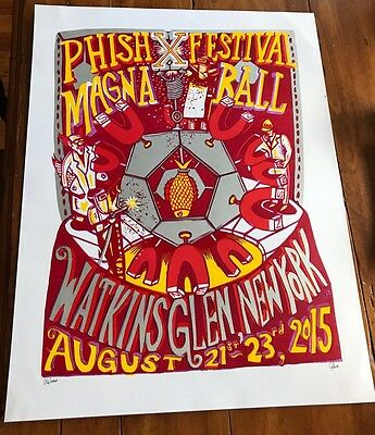 PHISH Limited Edition Magnaball Print /1000 Signed By Artist Jim Pollock 2015
