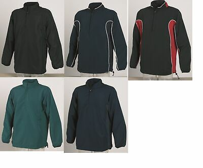 Gents Men's Tombo Teamsport Zip Neck Football Training Top TL45