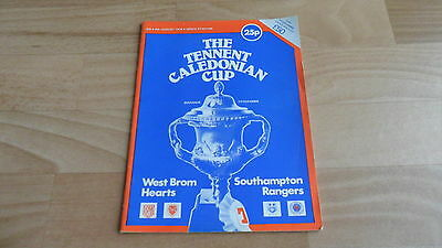 Tennant Caledonian Cup 1978 -  Rare Football Programme Rangers /hearts/west Brom