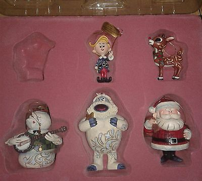 Rudolph the Red Nose Reindeer Traditions Set of 5 Ornaments Jim Shore