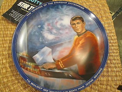 The Hamilton Collection Star Trek Collector Plate Scotty Engineering Officer