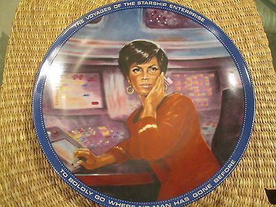 """The Hamilton Collection Star Trek Collectable Plate-Uhura 8.5"""" Plate #445M"""