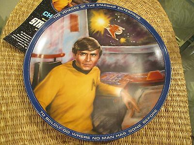 """The Hamilton Collection Star Trek Collector Plate Chekov Ensign 8.5"""" Sixth Issue"""
