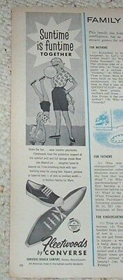 1962 vintage ad - Converse Rubber shoes Malden Massachusetts OLD AD
