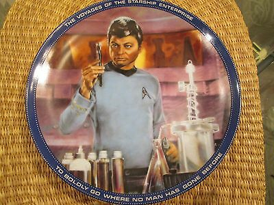 """The Hamilton Collection Star Trek Collector Plate Dr. McCoy Medical Officer 8.5"""""""