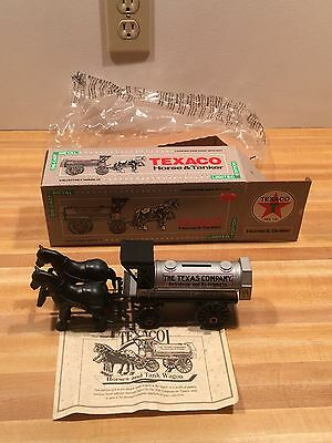 TEXACO COIN BANK VINTAGE HORSE & TANKER Limited Edition Die Cast  #8 1991