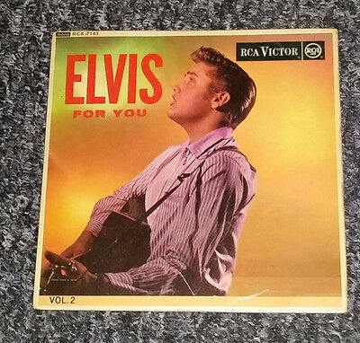 "ELVIS PRESLEY  original 7"" vinyl EP ""ELVIS FOR YOU VOL. 2"" ( RCX-7143 )"