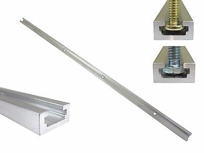 "T Track 48"" Aluminum 3/4"" x 3/8"" for 1/4"" & 5/16"" T Bolts & 1/4"" Hex Bolts"